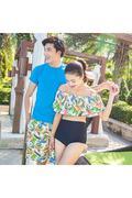 Bộ đồ đôi đi biển Family Shop 1 bộ bikini - 1 quần đùi nữ Family Shop – 1 quần đùi Nam.HQ 07A