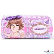 Bóp đựng viết Minmie màu tím cho bé gái - MM-244-8BM-02