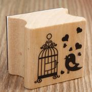 Cute 6 Pattern Wooden Wood Rubber Stamp Stamper Seal Craft Diary Free Choice (Intl)