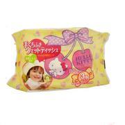 Giấy ướt LEC - Hello Kitty E045 dùng cho tay và miệng 80 tờ x 3 gói