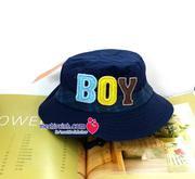 Mũ vải vành tròn mùa hè cho bé trai BOY chất đẹp hàng việt nam