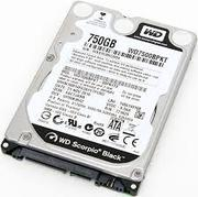 WD HDD Black 750GB 2.5