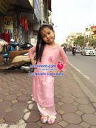 Áo dài ren thời trang bé gái size từ 5 tuổi đến 10 tuổi