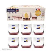Bộ 6 Ly Thủy Tinh Thấp Luminarc Vigne Ice Pink L0524 ( 310ml )