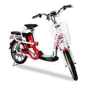 Xe đạp điện i-CITY plus Đỏ-Trắng