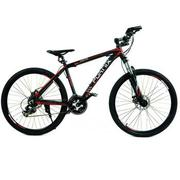 Xe đạp địa hình Fornix - nhôm - FB024 - Đen đỏ