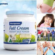 Sữa tươi dạng bột Maxigenes (Úc) (nguyên kem) (1kg)