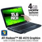 Acer Aspire AS5738PG-6306 LX.PK802.046 Notebook PC - Intel Core 2 Duo T6600 2.20GHz, 4GB DDR2, 320GB...