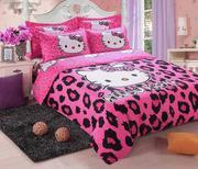 Set vỏ chăn + ga + 2 vỏ gối nằm Hello Kitty