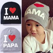 Mũ cotton I love mama papa