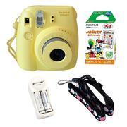 Bộ máy chụp ảnh lấy ngay Fujifilm Instax Mini 8 (Vàng) + Hộp phim Fujifilm Instax Mini 10 tấm + 1 bộ...
