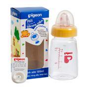 Bình sữa pigeon vuông KP4 120ml - Núm vú silicone