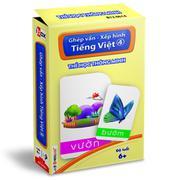 Thẻ học thông minh - Ghép vần, xếp hình tiếng Việt 4 (Độ tuổi 6+)