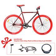 Xe đạp Topbike Fix khung đỏ loang