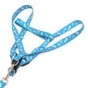 2 Sizes Bone Paws Print Cat Dog Pet Harness and Lead Set Leash Collar Walk Nylon - Intl