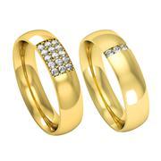 Nhẫn cưới vàng tây NCT020