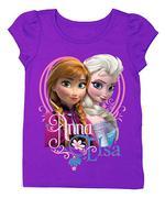 Grape Violet Frozen ´Anna & Elsa´ Tee - Toddler & Girls 5t