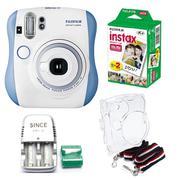 Bộ máy chụp ảnh lấy ngay Fujifilm Instax Mini 25 (Xanh dương) + hộp phim Fujifilm Instax Mini 20 tấm...