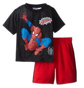 Marvel Little Boys Spiderman Short Set size 5,6,7t