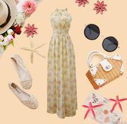 Váy đầm maxi hoa