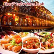 Tàu 5* Indochina Junk- Set Menu Tối Hấp Dẫn Và Du Ngoạn Ngắm Sài gòn