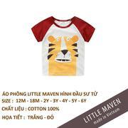 Áo phông cộc tay hè bé trai Little Maven made in vietnam