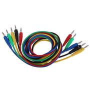 Banana Plug to Banana Plug 5 Color Test Cable Wire for Multimeter Probes - INTL