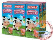 Sữa tươi MariGold của Sing hương dâu250ml - lốc 6 hộp