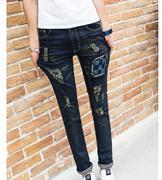 quần jeans nam rách vá caro