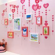 Bộ khung ảnh treo tường trái tim hồng BinBin KA18 (Nhiều màu)