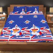 Bộ ga giường cotton Doremon 1m6 x 2m x 15cm (Sao bi)