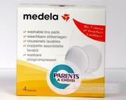 Miếng lót thấm sữa Medela (giặt được) (4 miếng)