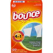 GIẤY THƠM BOUNCE 4IN1 OUTDOOR FRESH (120 TỜ)