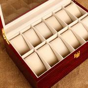 Hộp đựng đồng hồ 12 chiếc bằng gỗ nguyên khối cao cấp LOPA (Nâu đỏ)