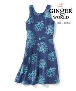 Đầm thun cho bé san hô biển, màu xanh JB-XSH