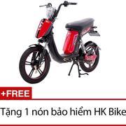 Xe đạp điện HK Bike CAP-A (Đen phối đỏ) + Tặng 1 nón bảo hiểm HK Bike
