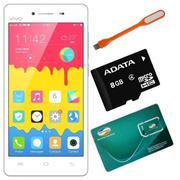 Bộ 1 Vivo Y51 16GB (Trắng) + 1 Sim Viettel + 1 Thẻ Nhớ 8GB + Đèn Led USB - Hãng Phân phối chính t...