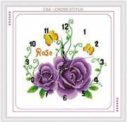 Đồng hồ hoa hồng tím