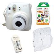 Bộ máy chụp ảnh lấy ngay Fujifilm Instax Mini 8 (Trắng) + Hộp phim Fujifilm Instax Mini Mickey 10 tấ...