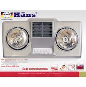 Đèn Sưởi Nhà Tắm Hans 2 bóng (H2B-HW)