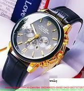 Đồng hồ dây da nam Ro 3 mặt sành điệu sang trọng DHNN110