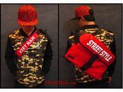 Cặp đeo chéo Street Style - màu đỏ tươi