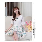 Set áo + chân váy hoa bách hợp - GS:200 - DV2402