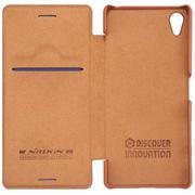 Bao da Nillkin QIN Leather cho Sony Xperia X (Nâu)