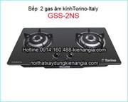 bếp âm kính 2 gas Torino -Italy GSS-2NS