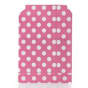 25 X Retro Polka Dot Wedding Favour Buffet Food Cake Gift Paper Party Oil Bags Rose Red - Intl