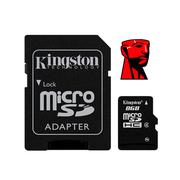 Thẻ nhớ Kingston 8GB Class 4 MicroSDHC Card Flash Memory with SD Adapter SDC4/8GB