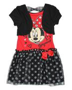Đầm Bé Gái Minine Mouse có áo khoác size 6t