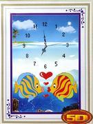 Đồng hồ đôi cá hoạt hình