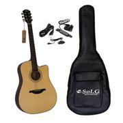 Bộ đàn guitar acoustic Rex D1CNM + Bao đàn 3 lớp Sol.G BGA001 Và Pick up đàn guitar QH6A
